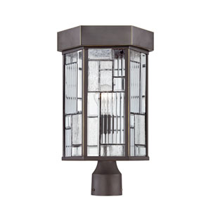 Kingsley Aged Bronze Patina One-Light Post Lantern