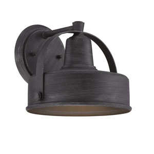 Portland-DS Weathered Pewter 7-Inch One-Light Outdoor Wall Lantern