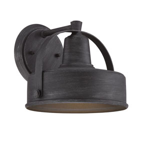 Portland-DS Weathered Pewter 11-Inch One-Light Outdoor Wall Lantern