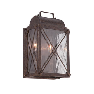 Colfax Etruscan Bronze 9-Inch Two-Light Outdoor Wall Lantern