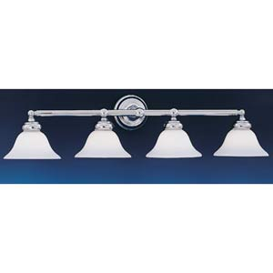 Opal Essence Chrome Four-Light Bath Fixture