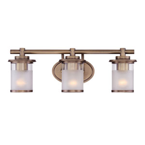 Essense Old Satin Brass Three-Light Vanity