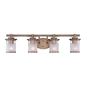 Essense Old Satin Brass Four-Light Vanity