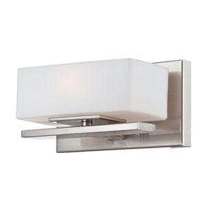 Meridian Satin Platinum One-Light Bath-Fixture