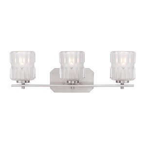 Valeta Satin Platinum Three-Light Bath Fixture