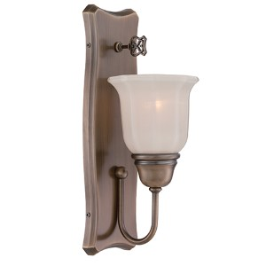 Astor Old Satin Brass One-Light Wall Sconce