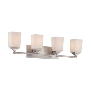 Corbin Satin Platinum Four-Light Bath Bar