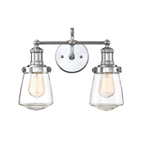 Taylor Chrome Two-Light Bath Light