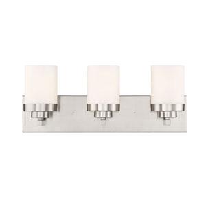 Kaden Satin Platinum Three-Light Bath Light