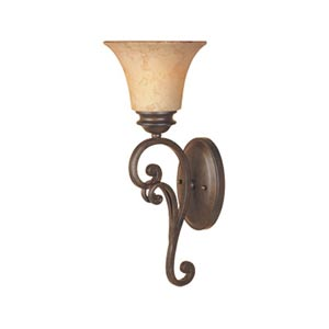 Mendocino Forged Sienna One-Light Sconce