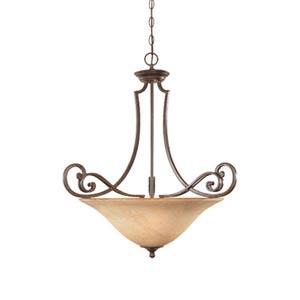 Mendocino Forged Sienna Three-Light Pendant