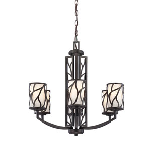 Modesto Artisan Six-Light Chandelier with White Opal Glass