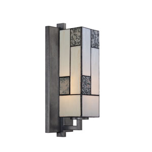 Bradley Charcoal One-Light Bath Fixture with Art Glass