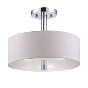 Cordova Chrome Semi-Flush