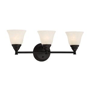 Kendall Oil Rubbed Bronze Three-Light Bath Fixture