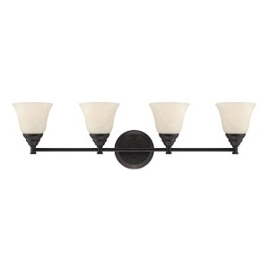Kendall Oil Rubbed Bronze Four-Light Bath Fixture