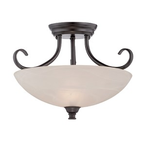 Kendall Oil Rubbed Bronze Two-Light Semi-Flush