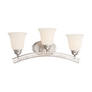 Grand Plazza Satin Platinum Three-Light Bath Fixture