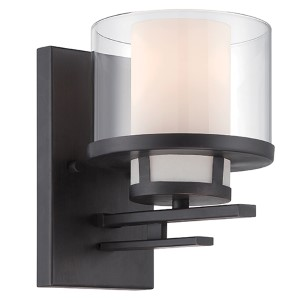 Fusion Biscayne Bronze One-Light Wall Sconce