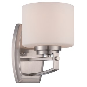 Axel Satin Platinum One-Light Wall Sconce