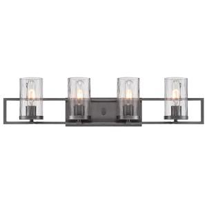 Elements Charcoal Four-Light Bath Bar
