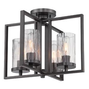 Elements Charcoal Four-Light Semi-Flush