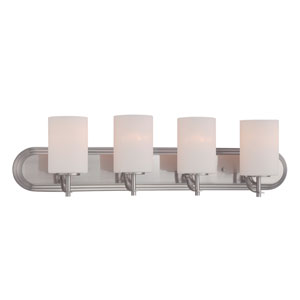 Cassina Satin Platinum Four-Light Bath Bar