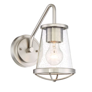 Darby Satin Platinum One-Light Wall Sconce