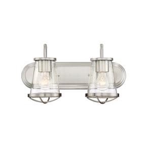 Darby Satin Platinum Two-Light Bath Light