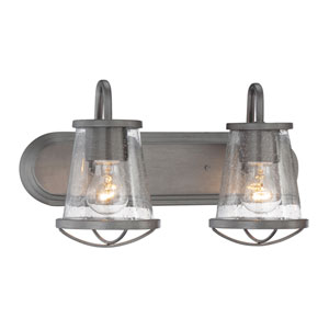 Darby Weathered Iron Two-Light Vanity