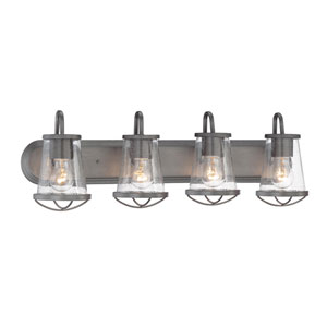 Darby Weathered Iron Four-Light Vanity