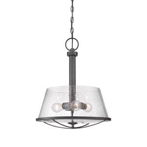 Darby Weathered Iron Three-Light Pendant