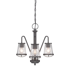 Darby Weathered Iron Three-Light Chandelier