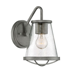 Darby Weathered Iron One-Light Outdoor Wall Lantern