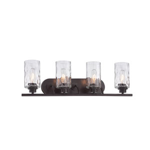 Gramercy Park Old English Bronze Four-Light Bath Bar