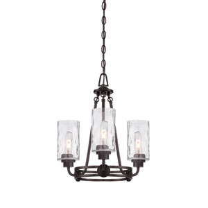 Gramercy Park Old English Bronze Three-Light Chandelier