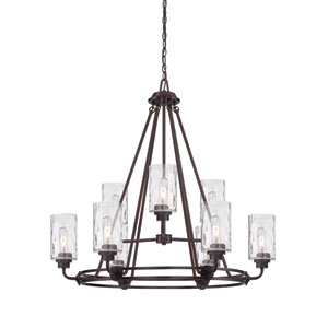 Gramercy Park Old English Bronze Nine-Light Chandelier