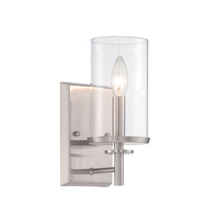 Harlowe Satin Platinum One-Light Wall Sconce
