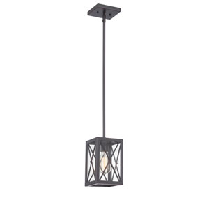 High Line Satin Bronze One-Light Mini Pendant