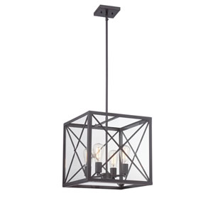 High Line Satin Bronze Four-Light Pendant