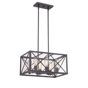 High Line Satin Bronze Six-Light Chandelier