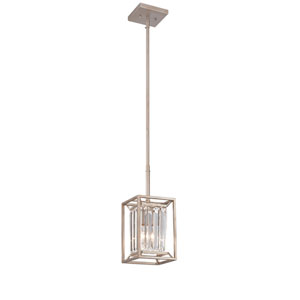 Linares Aged Platinum One-Light Mini Pendant
