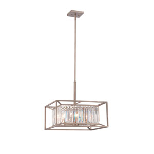 Linares Aged Platinum Four-Light Pendant