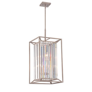 Linares Aged Platinum Four-Light Foyer Fixture