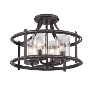 Palencia Artisan Pardo Wash Four-Light Semi-Flush Mount