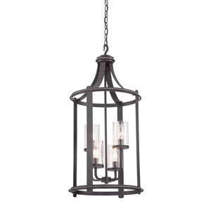 Palencia Artisan Pardo Wash Four-Light Foyer Fixture