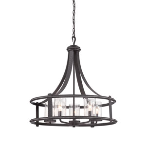 Palencia Artisan Pardo Wash Five-Light Chandelier