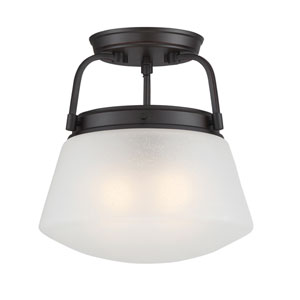 Mason Satin Bronze Two-Light Semi-Flush Mount