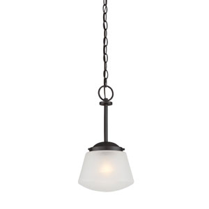 Mason Satin Bronze One-Light Mini Pendant