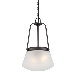 Mason Satin Bronze Two-Light Pendant